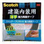 スリーエム スコッチ 建築内装用薄手強力両面テープ 10mm×10m
