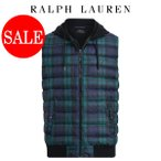 ショッピングラルフローレン ラルフローレン ダウン ベスト Polo Ralph Lauren ポニー タータンチェック フード フロント ダウン ベスト