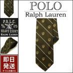 ラルフローレン ネクタイ Polo Ralph Lauren エンブレム刺繍ストライプ シルクツイル ネクタイ メンズ