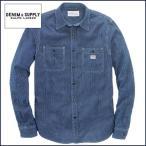 デニム&サプライ 長袖シャツ DENIM&SUPPLY by ラルフローレン インディゴ ストライプ ワードシャツ メンズ