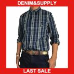デニム&サプライ 長袖シャツ  DENIM&SUPPLY by ラルフローレン インディゴチェック 長袖ワークシャツ メンズ