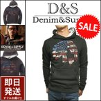 デニム&サプライ パーカー DENIM&SUPPLY by ラルフローレン インディアン USA国旗グラフィック プリント プルオーバーパーカー メンズ