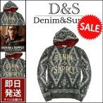 デニム&サプライ パーカー DENIM&SUPPLY by ラルフローレン  ネイティブ柄 フリース チェックフード パーカー メンズ