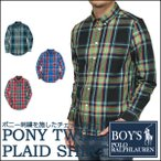 ラルフローレン  長袖シャツ Polo Ralph Lauren ポニー刺繍 チェック ツイル 長袖 シャツ メンズ・レディース対応