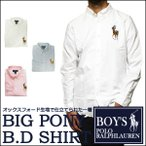 ラルフローレン  長袖シャツ Polo Ralph Lauren ビッグポニー 刺繍 オックスフォード ボタンダウン 長袖 シャツ メンズ・レディース対応