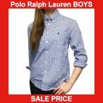 ラルフローレン 長袖シャツ Polo Ralph Lauren ポニー刺繍 チェック コットン ポプリン 長袖 ボタンダウン シャツ