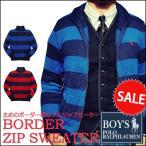 ラルフローレン  セーター Polo Ralph Lauren ポニー刺繍 ラグビーストライプ ジップアップ ニット セーター メンズ・レディース対応