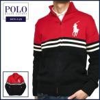 ラルフローレン  セーター Polo Ralph Lauren ビッグポニー 刺繍 ボーダー フルジップ ニット セーター