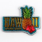 ハワイアン フォイルマグネット 「ハワイアンパイナップル&ハイビスカス」 /ハワイのお土産/ハワイアン雑貨/