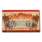 ミニハワイアンココナッツマット 「ライセンスプレート カリフォルニア」 30×50cm /ココマット・コイヤーマット/アメリカン雑貨/西海岸インテリア/