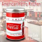 コカコーラ ティンキャニスター(ICE COLD フィッシュテール)/COCA-COLA/ブリキ缶/保存容器/コーヒー・調味料入れ/キッチン/アメリカン雑貨/