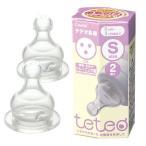 【19%OFF】テテオ乳首母乳・ミルク トレーニング用<2個入> / Sサイズ teteo