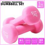 カラー ダンベル 1kg 鉄アレイ 鉄アレー 筋トレ 筋力アップ トレーニング ダイエット エクササズ 器具 男女兼用