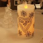 キャンドル LEDライト ホワイトハート クリスマス LEDキャンドル