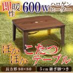 コタツ こたつテーブル チョコ 正方形 幅80cm 突板 ウォールナット 家具調コタツ オシャレ おしゃれ 人気 こたつ