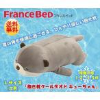 ひんやり接触冷感 フランスベッド ぬいぐるみ抱き枕  カワウソ キューちゃん Lサイズ 枕 肩こり 安眠枕 横向き枕 快眠枕 抱き枕