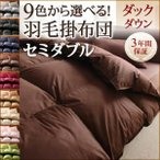 9色から選べる 羽毛布団 ダックタイプ 掛け布団 セミダブル
