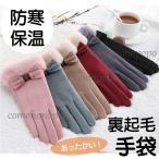 手袋 レディース スマホ対応 グローブ 防寒 冬 もこもこ手袋 エレガント手袋 大人女子 全国送料無料 暖かい 冬アイテム 裏ボア手袋