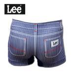 ボクサーパンツ Lee リー 転写成型 メンズ 前閉じ ヒッコリー 290:ネイビー