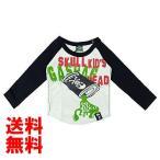GASBAG(ガスバグ) SKULL OIL Pt 天竺長袖Tシャツ 120cm/ホワイト NO.G-34-510