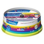 Verbatim DVD+R DL 8.5GB 25枚スピンドル・IJP白ワイド DTR85HP25V1 目安在庫=△