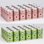 シャイニー 青森の味!りんごジュース 贅沢りんご24缶+贅沢りんご王林24缶 目安在庫=○