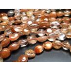 Yahoo!パワーストーン・天然石のComRoseお買い得タンブル連 オレンジ&ブラウン系ルチルクォーツ針入り水晶タンブル連 粒サイズ約5-10mm 一連 約40cm Mサイズ