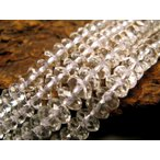 激安宣言 繊細カット 6mm 天然水晶ボタンカット(クリスタル) 一連 約38cm ロンデル ブラジル産 geki
