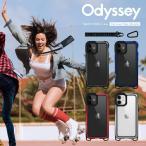 iPhone12mini ケース ショルダー ストラップ 付き 耐衝撃 クリア アルミ 衝撃 吸収 薄型 透明 カバー [ iPhone 12 mini アイフォン12ミニ ] SwitchEasy Odyssey