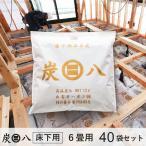 除湿剤 炭八 床下 消臭 脱臭 乾燥 湿気対策 調湿 6畳用 36袋セット 新築 リフォーム