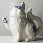 アンソロポロジー Anthropologie ねこのティーポット 猫 ネコ 花柄 ELISE