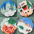 アンソロポロジー 4枚セット クリスマス プレート ケーキプレート デザートプレート HOLIDAY SPIRIT