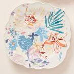 アンソロポロジー サイドプレート ケーキ皿 取り皿 花柄 陶器製 Anthropologie