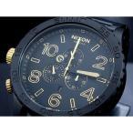 ニクソン NIXON 腕時計 51-30 CHRONO A083-1041 MATTE BLACK GOLD A0831041