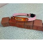 【ハンドメイド】DOG 本革首輪 10mm幅・ネーム入り・長さ自由・犬・ペット ・オリジナル・牛革・手作り・オーダーメイド・カスタム