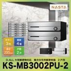 メーカー直送 D-ALL ディーオール 大型郵便物対応 集合住宅用郵便受箱 2戸用 NASTA [KS-MB3002PU-2] ナスタ