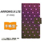 F-05D アローズX LTE ARROWS X LTE 手帳型 スマホカバー YA928 dot04