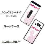 AQUOS ケータイ SH-06G ハードケース IA802 Rabbit+ 素材クリア