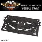 ショッピングハーレーダビッドソン ハーレーダビッドソン HARLEY-DAVIDSON スカル WINGED SKULL ENTRY MAT エントリーマット 玄関マット HDL-10096