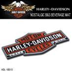 ショッピングハーレーダビッドソン ハーレーダビッドソン HARLEY-DAVIDSON NOSTALGIC B&S BEVERAGE MAT ビバレッジマット グラスマット HDL-18510