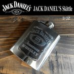 ジャック・ダニエル Jack Daniel's スキットル ヒップフラスコ ウイスキーボトル フラスクボトル 3オンス(85ml)