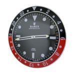 RAREX Wall Clock ラリックス アメリカン雑貨 壁掛け時計  (BLACK×RED)