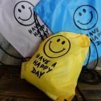 SMILE スマイル KNAP SACK ナップサック リュック イエロー/ブルー/ピンク/グリーン/ライトブルー/ブラック