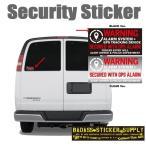 Security Sticker セキュリティステッカー WARNING GPS追跡機能付きアラーム CL/BK
