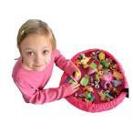 お片付けマット  おもちゃ収納袋  おもちゃストレージマット レゴ マット 直径45cm 簡単おかたづけ お片付け