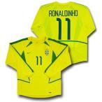 【ナイキ】2002/04ブラジル ホーム #11・ロナウジーニョ 長袖ユニフォーム