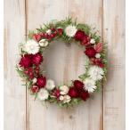 草原で見つけた妖精の花冠♪Coquelicot Rouge☆オトナかわいい赤と白のナチュラルリース 母の日 リース ドライフラワー