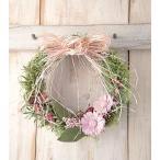 玄関ドアに飾るマーガレットのウェルカムリース♪Marguerite des pres roseマルグリット-ピンク