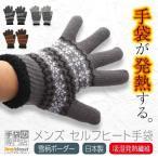 手袋 メンズ 暖かい 冬 裏ボア 発熱 ニット ノルディック 雪柄 結晶柄 ボーダー 吸湿発熱 日本製 プレゼント ギフト