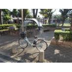 電動アシスト自転車 子供のせ自転車の日よけ、UVカット、雨除け、 一般のパイプ荷台に紺色屋根生地の ノーマルキットSbP